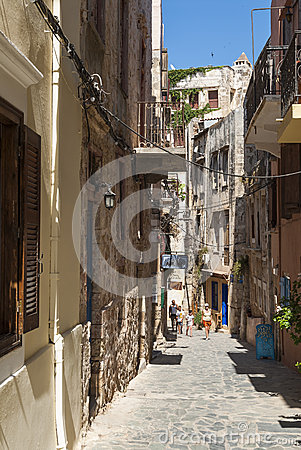 Old town street Chania Editorial Image