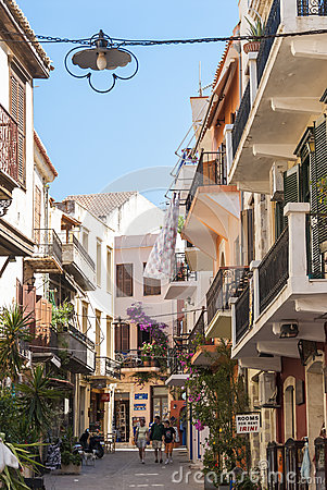 Old town street Chania Editorial Photo