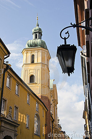 Old town street in Warsaw