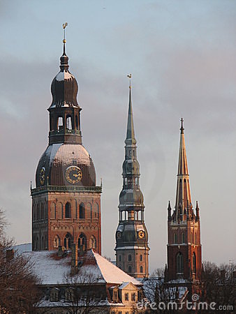 Old town towers - Riga Latvia