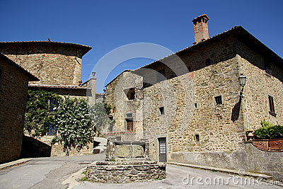 Old town in Volpaia (Tuscany, Italy)