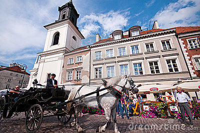 Old Town in Warsaw Editorial Photography