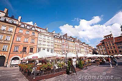Old Town in Warsaw Editorial Photo