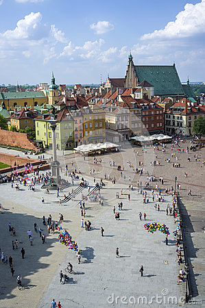 Old Town in Warsaw - panoramic view, Poland