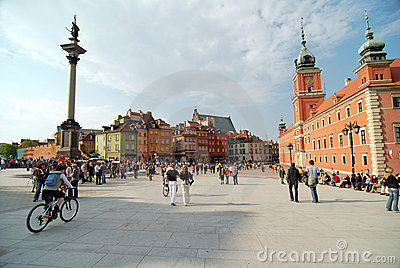 Old Town in Warsaw, Poland Editorial Photography