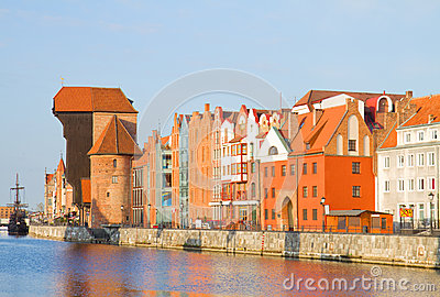 Old town waterfront, Gdansk