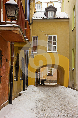 Old town in winter, Warsaw, Poland