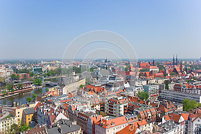 old town of Wroclaw from above