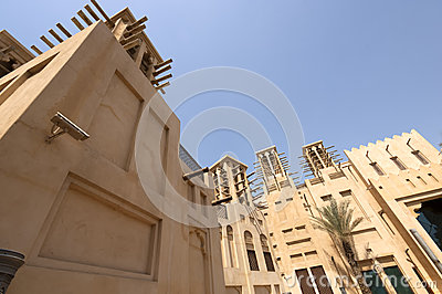 Old townhouses in Dubai United Arab Emirates