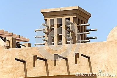 Old townhouses in Dubai United Arab Emirates