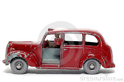 Old toy car Austin Metropolitan Taxi