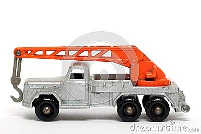 Old toy car crane truck Magirus Deutz
