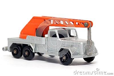 Old toy car crane truck Magirus Deutz #2