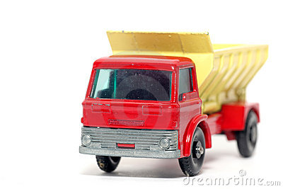 Old toy car Grit Spreading Truck #2