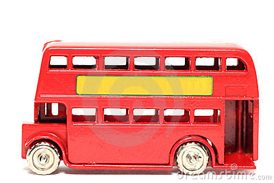 Old toy car London Bus