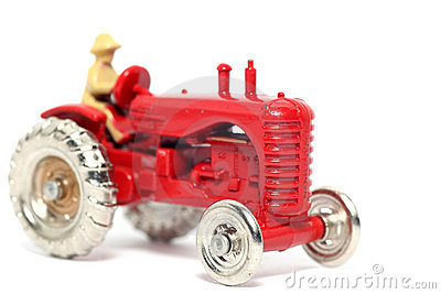 Old toy car Massey Harris Tractor #2