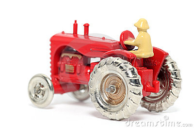 Old toy car Massey Harris Tractor #4
