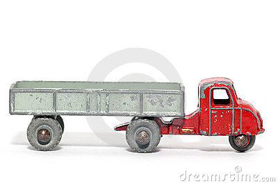 Old toy car mechanical horse and trailer #3