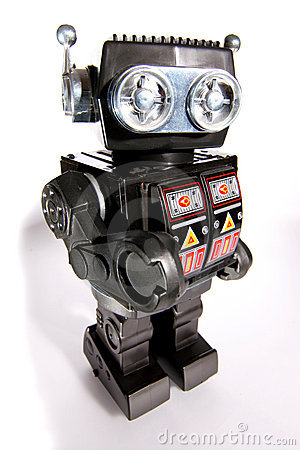 Free Old Toy Tin Robot 2 Royalty Free Stock Image - 1828156