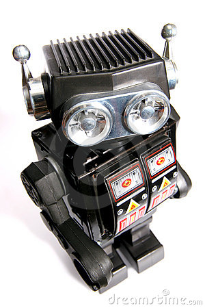 Old toy tin robot #3