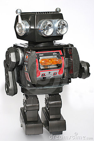Old Toy Tin Robot #4 Royalty Free Stock Photos - Image: 1828168
