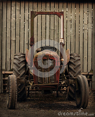 Old Tractor by Barn