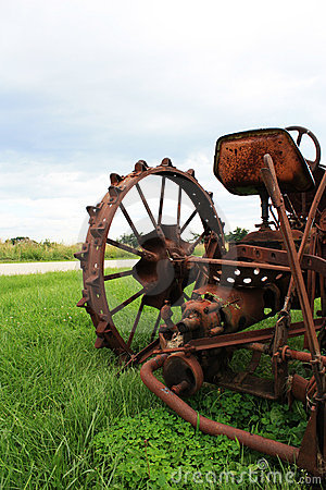 Free Old Tractor Close Up Stock Images - 10513964
