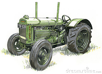 Old Tractor Colour