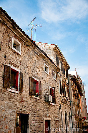 Old traditional Istrian stone houses in Croatia
