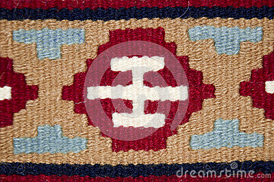 Old traditional romanian wool carpet