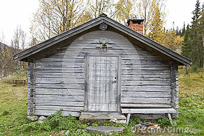 Old traditional wooden cabin