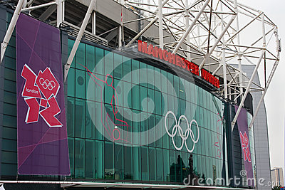 Old Trafford, London 2012. Editorial Stock Photo