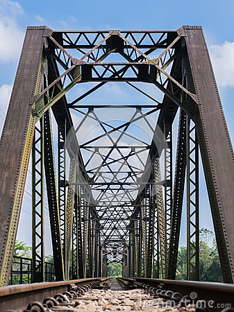 Free Old Train Bridge Royalty Free Stock Photo - 37447195