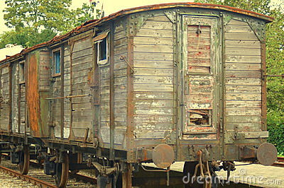 Old train cabin