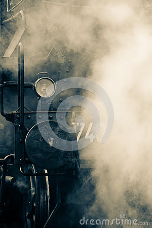 Free Old Train Steam Stock Photography - 30041062