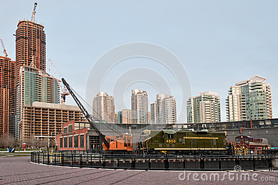 Old train in Toronto Editorial Stock Image