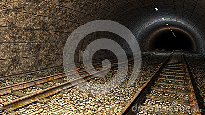 Old train tunnel.