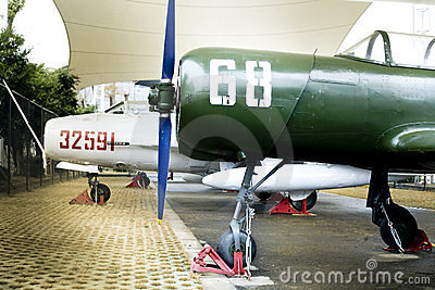 Old trainer aircraft Editorial Image