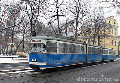 Old tram in Krakow