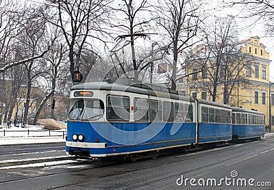 Old tram in Krakow