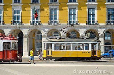 Old trams Editorial Stock Photo