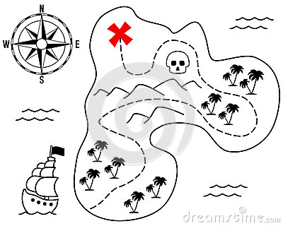 Old Treasure Island Map