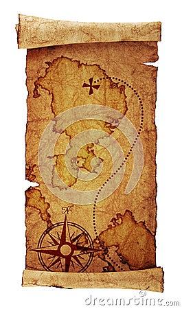 Free Old Treasure Map Stock Photos - 13094673