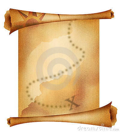 Free Old Treasure Map Stock Photography - 3292102