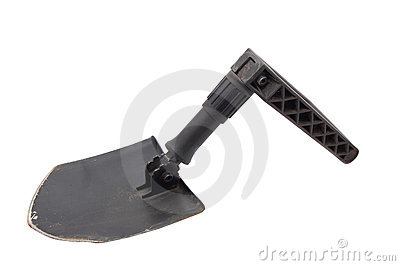 Old tri-fold army shovel