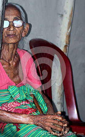 Old Tribal lady Editorial Photography