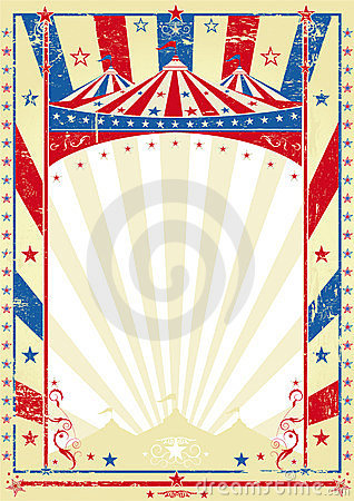 Free Old Tricolor Poster Big Top Stock Photos - 23353123