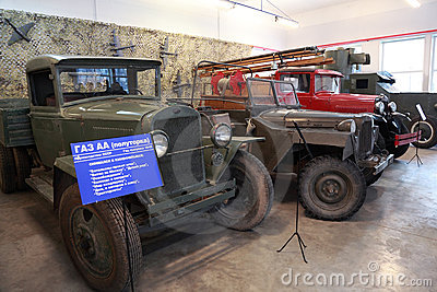 Old trucks, military vehicle in museum Editorial Stock Photo
