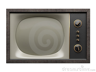 Old TV. Front view