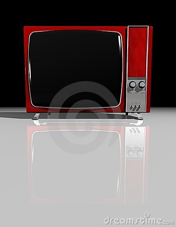 Free Old TV - RED Television Royalty Free Stock Photography - 2473467